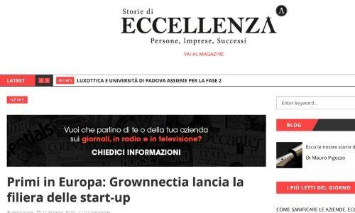 Primi in Europa: Grownnectia lancia la filiera delle start-up