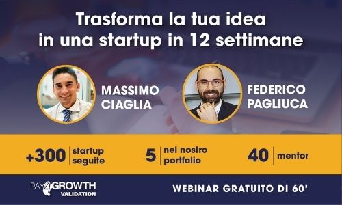 Webinar di presentazione Pay4Growth Validation